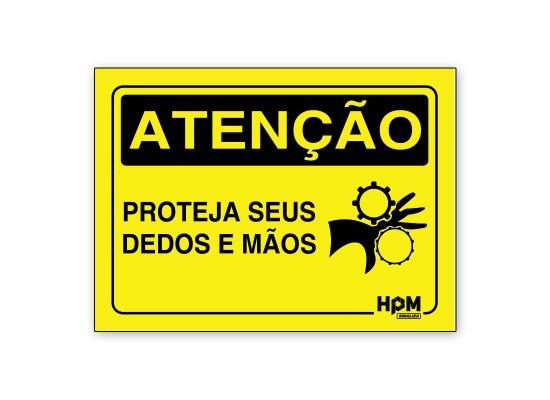 Placa Atenção - Use Calçado de Segurança