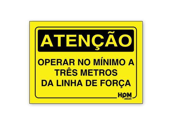 Placa Atenção - Operar a Distância