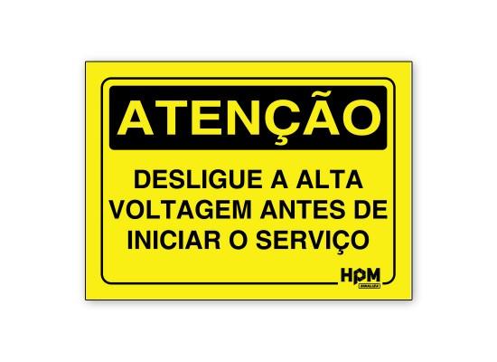 Placa Atenção - 380/420 VOLTS