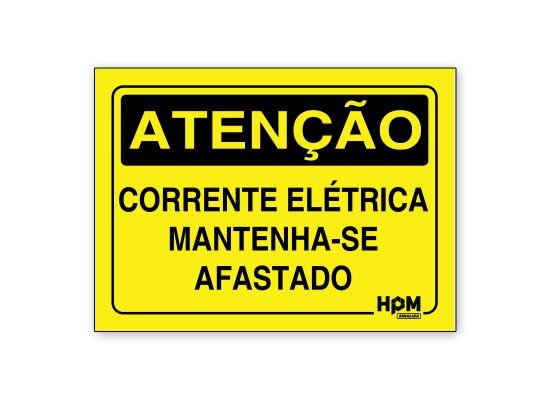 Placa Atenção - Corrente Elétrica