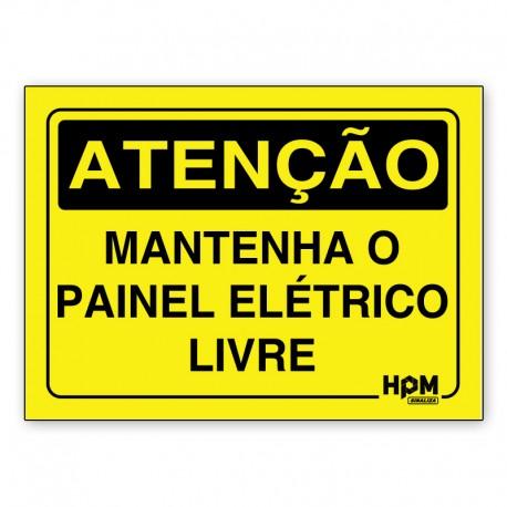 Placa Atenção - Painel Elétrico