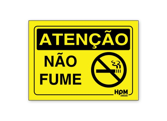 Placa Atenção - Não Fume