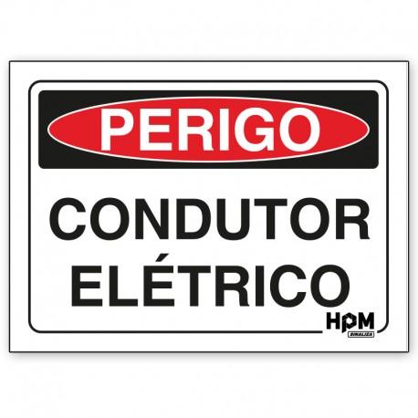 Placa Perigo - Condutor Elétrico