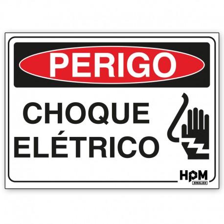 Placa Perigo - Choque Elétrico