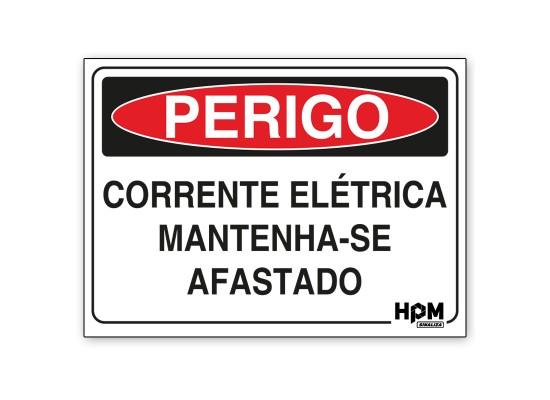 Placa Perigo - Corrente Elétrica