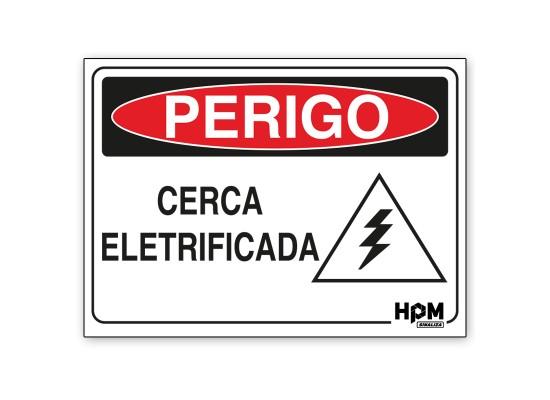 Placa Perigo - Cerca Eletrificada