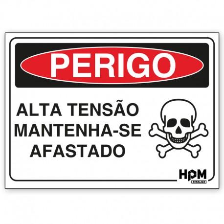 Placa Perigo - Alta Tensão Interna