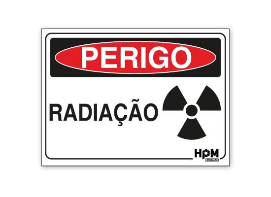 Placa Perigo - Radiação
