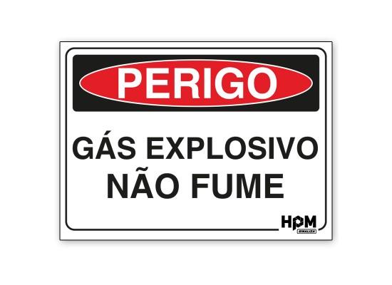 Placa Perigo - Gasolina, Não Fume