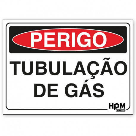 Placa Perigo - Gás Explosivo, Não Fume