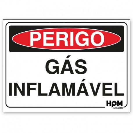 Placa Perigo - Gás