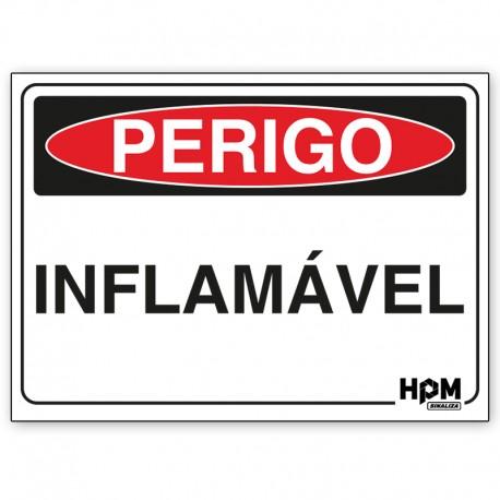 Placa Perigo - Estoque de Material Inflamável