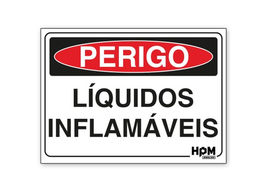 Placa Perigo - Líquido Inflamável