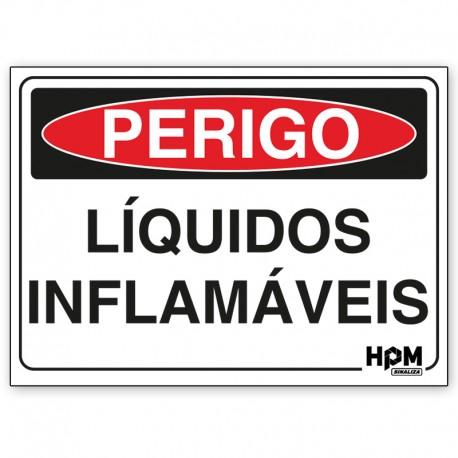 Placa Perigo - Inflamável