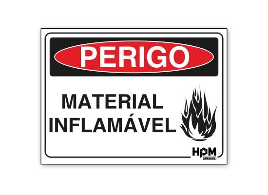 Placa Perigo - Material Inflamável