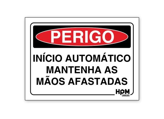 Placa Perigo - Início Automático
