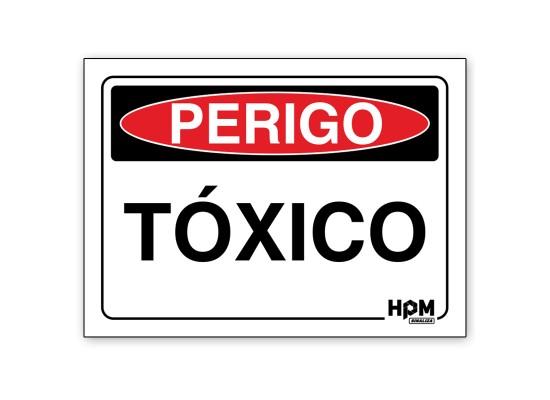 Placa Perigo - Tóxico