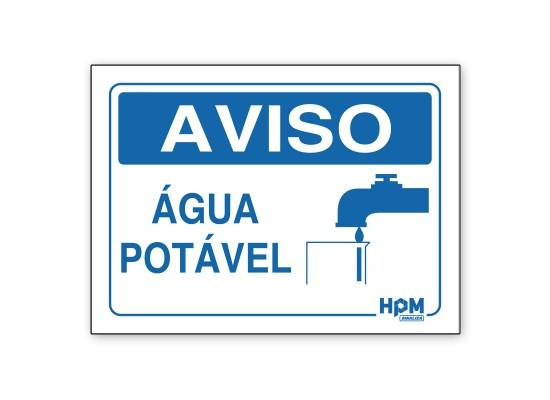 Placa Aviso - Água Potável