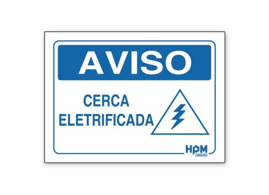 Placa Aviso - Cerca Eletrificada