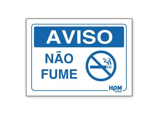 Placa Aviso - Utilize Corrimão