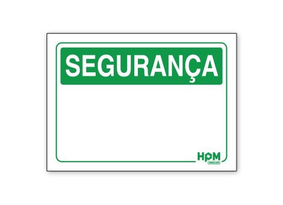 Placa Segurança Genérica HPM