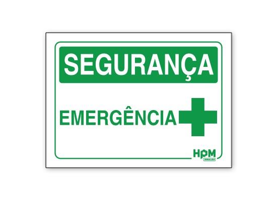 Placa Segurança - Emergência