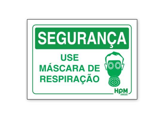 Placa Segurança - Use Máscara de Proteção