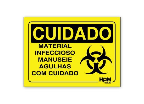 Placa Cuidado Material Infeccioso