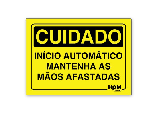 Placa Cuidado Inicio Automático