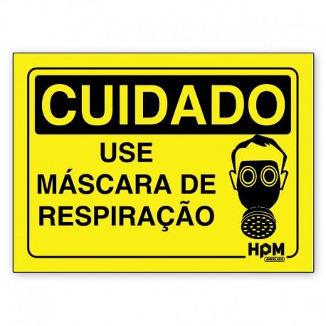 Placa Cuidado Use Luvas