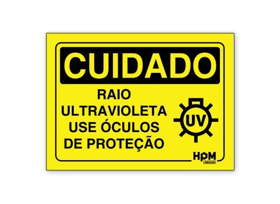 Placa Cuidado Raio Ultravioleta