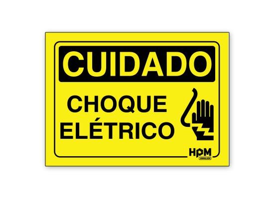 Placa Cuidado Choque Elétrico