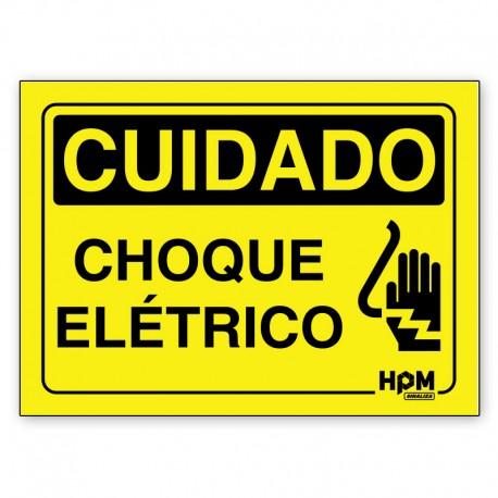 Placa Cuidado Equipamento Elétrico