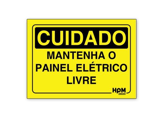 Placa Cuidado Condutor Elétrico
