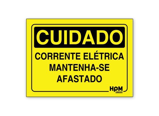 Placa Cuidado Mantenha o Painel Elétrico Livre