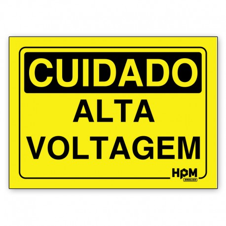 Placa Cuidado Corrente Elétrica, Mantenha-se Afastado