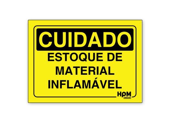 Placa Cuidado Gás Inflamável