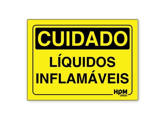 Placa Cuidado Líquidos Inflamável