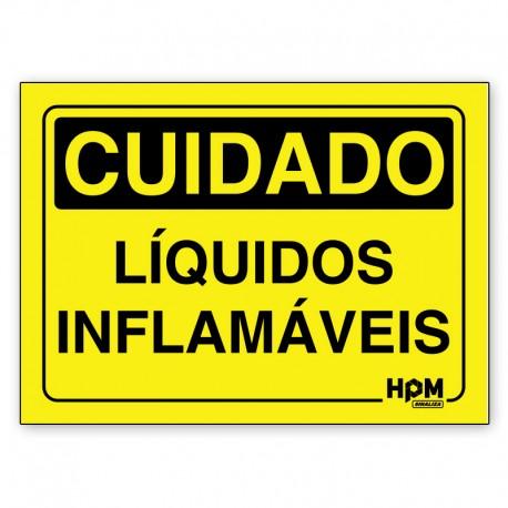 Placa Cuidado Inflamável